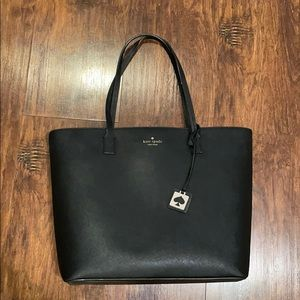 Kate Spade black Scott Place Lids tote bag